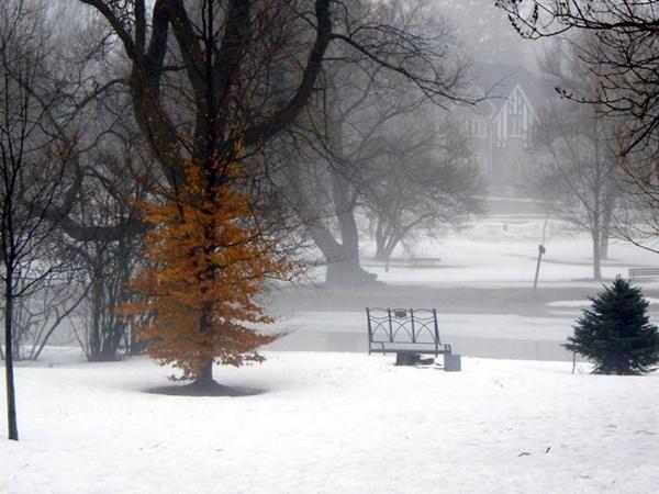 Stratford under snow in Ontario Canada