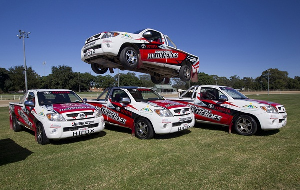The Unbreakable HiLux Heroes precision driving team unveiled its new livery at the recent Camden Show 600