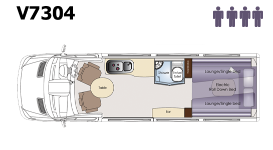 2012 Winnebago Diversion Motorhome Layout V7304