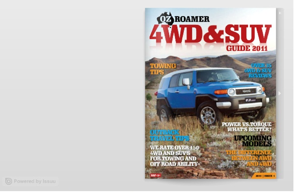 OzRoamer Guide to 4WD & SUV 2011 - 2012