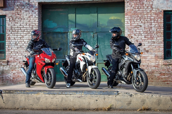 2013 Honda CBR500R, CB500F and CB500X