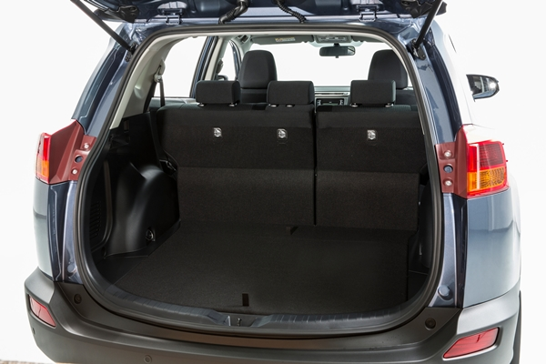 2013 toyota rav4 cargo space with space saver spare. Black Bedroom Furniture Sets. Home Design Ideas