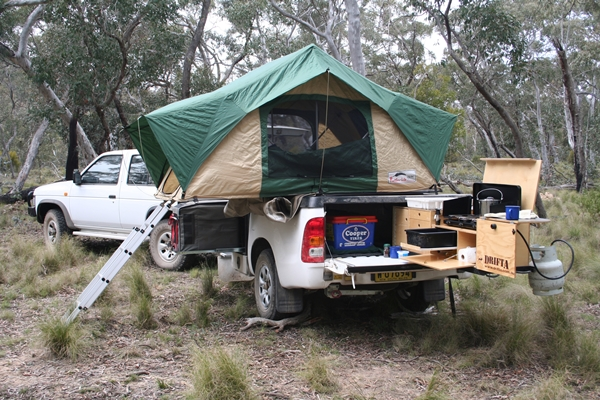 GT Campers Off Road Camper Trailer set up