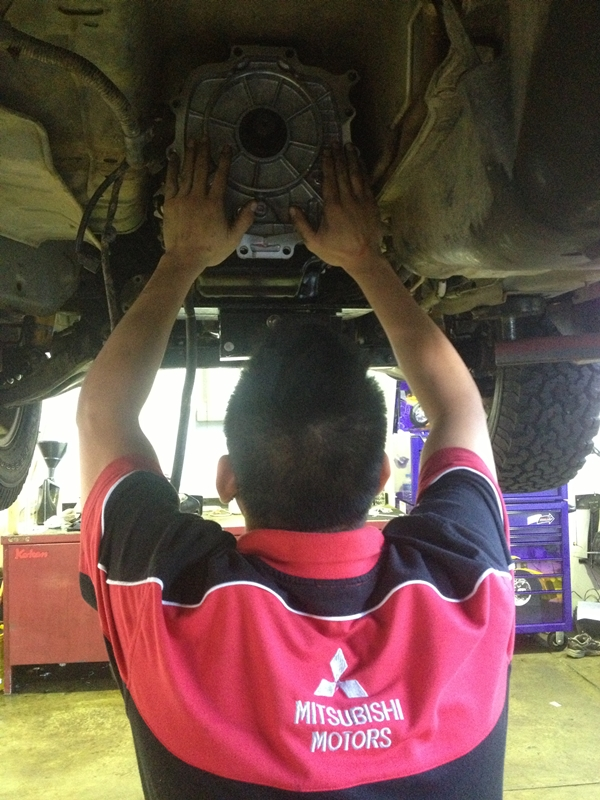 Project Pajero Transmission replacement