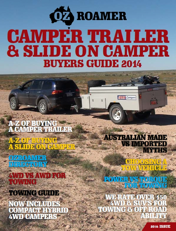 OzRoamer Camper Trailer and Slide on Camper Buyers Guide 2014.