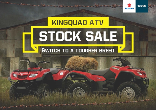 Suzuki's Stock Sale On Farm ATV