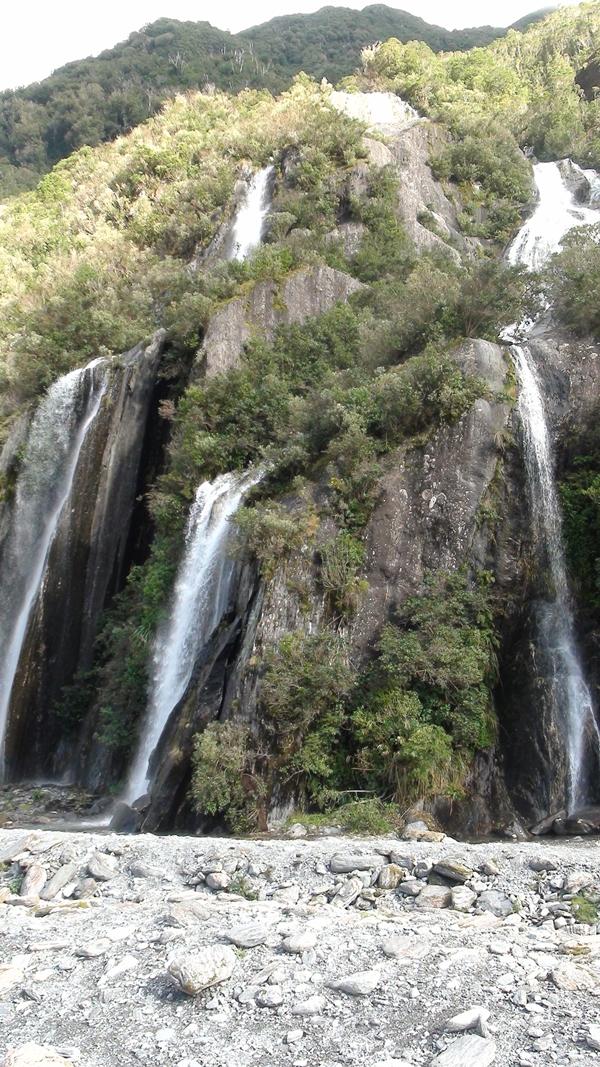 2014 NZ Franz Josef Glacier waterfalls