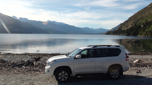 NZ 2014 Prado on the shores of Lake Wanaka