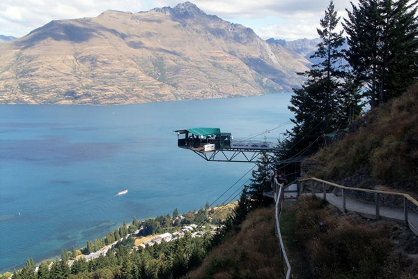 NZ 2014 Queenstown Gondola bungy jumping