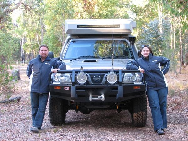 Jen & Justin Lewis at Start of Epic Journey Narva
