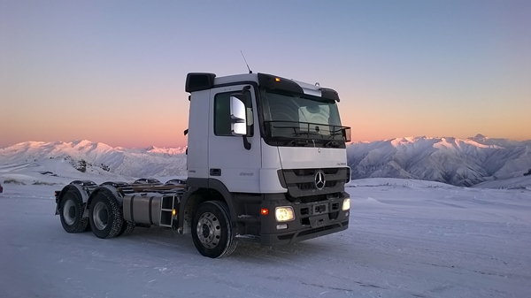 Mercedes-Benz Snow Test Truck