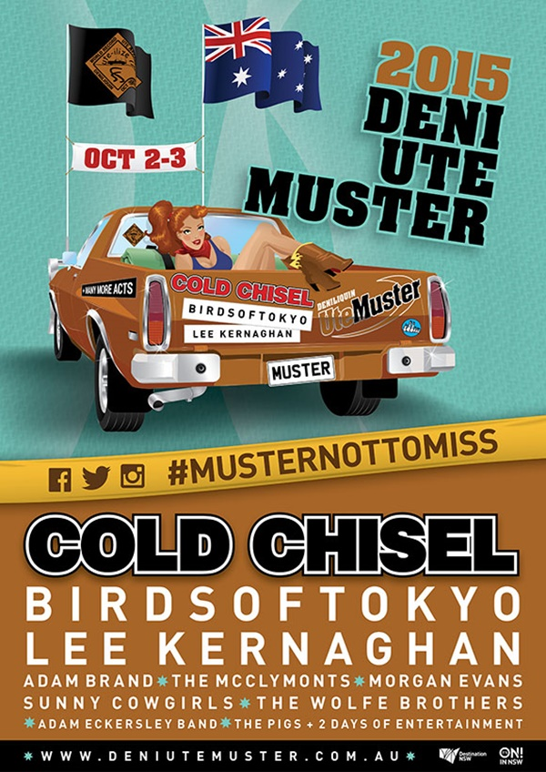 2015 Deni Ute Muster final event poster