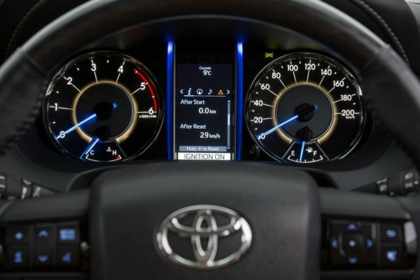 Toyota Fortuner Crusade interior (Pre-production model shown.)