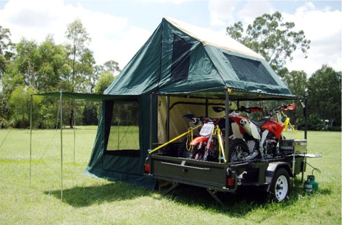 News 3in1 Motorcycle Camper Trailer