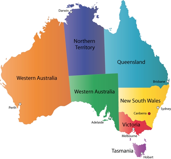 Map of Australia for Travel
