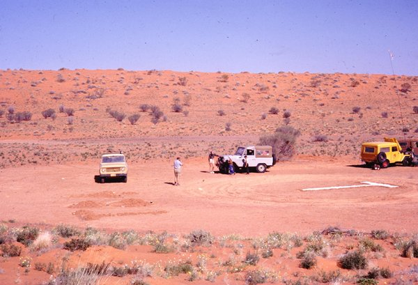 1962 Simpson Desert crossing party meeting at T84