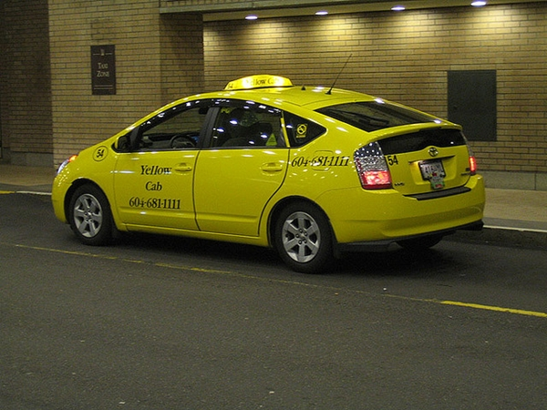 Toyota Prius Taxi in Vancouver 600