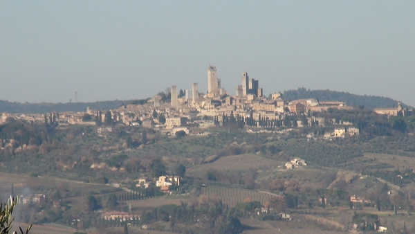 San Gimignano Tuscany view from a distance