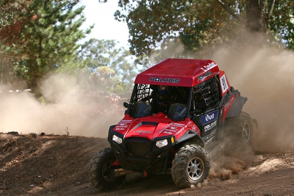 Polaris' Cody Crocker has just completed a clean sweep of round two of the ARC Side By Side Challenge in W. A