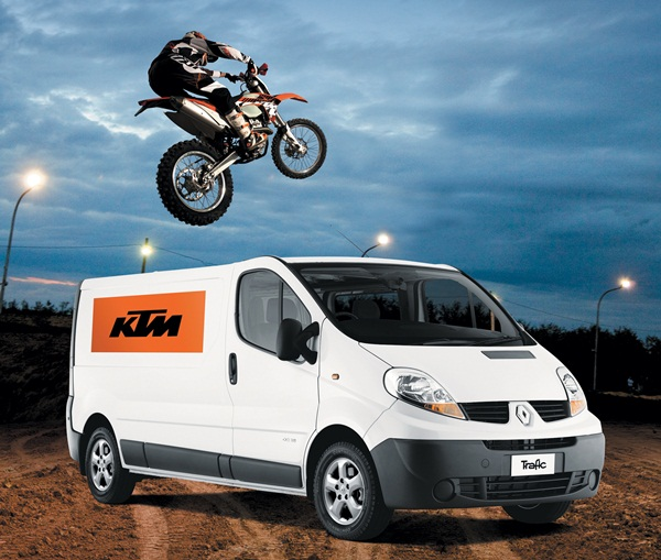 Renault and 2013 KTM 350 EXC-F dirt bike