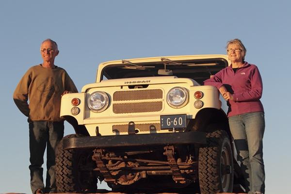 Nissan G60 Patrol Margaret and Doug Sprigg Simpson Desert Crossing