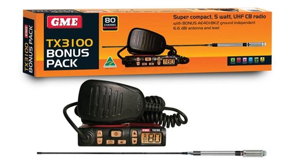 GME TX3100 80 channel 5 watt super compact UHF CB radio