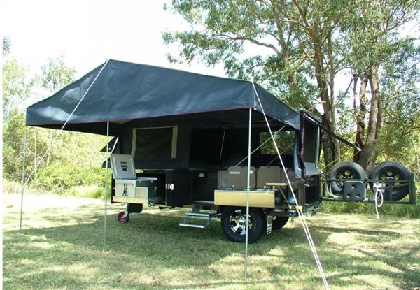 Modcon Camper Trailer Imperial Hfd Awning Set Up Ozroamer