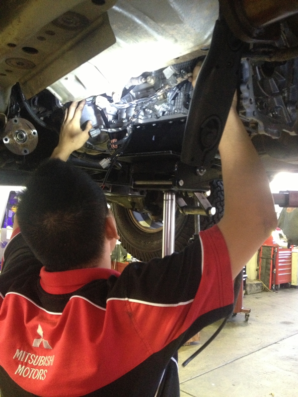 Project Pajero Transmission replacement 2