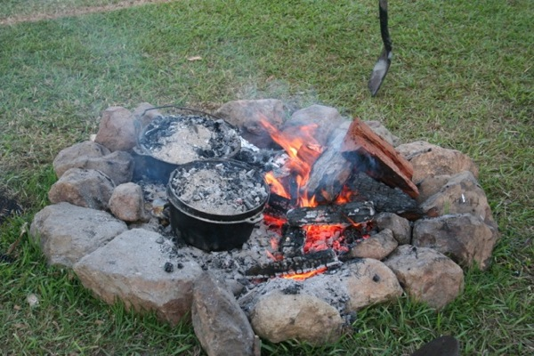 Camp Oven over Coals