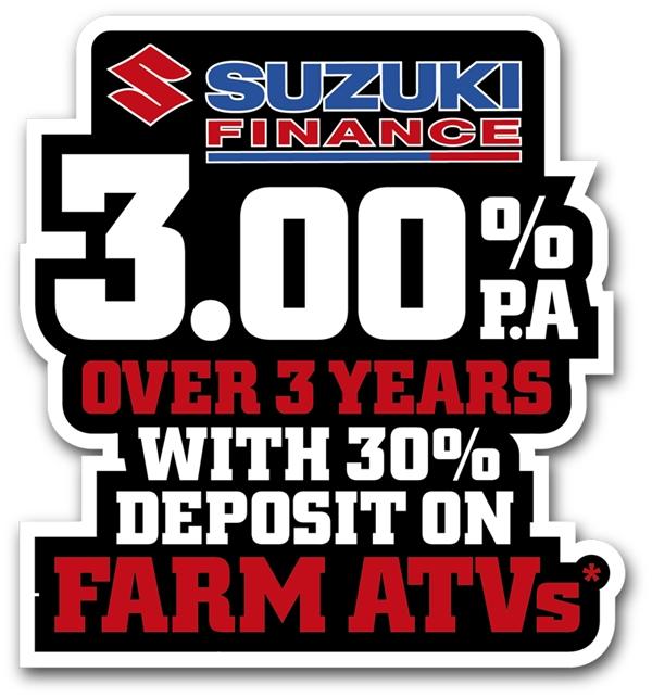 Suzuki Celebrates 30 Years Of ATVs With 3.00% Per Annum Low Inte