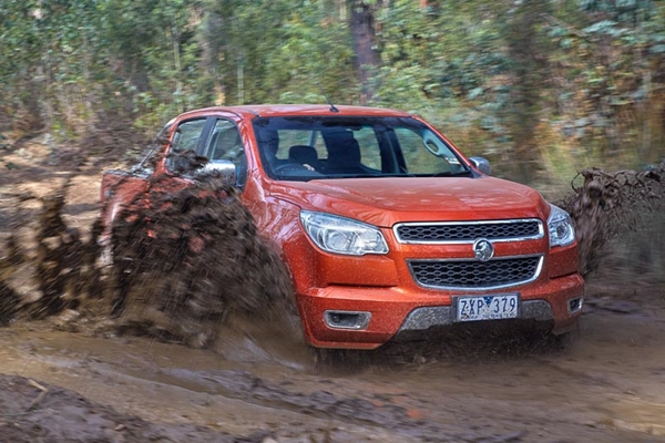 MY14 Holden Colorado LTZ in mud
