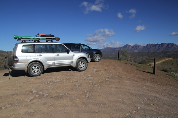 Project Pajero at Bunyeroo Gorge Flinders Ranges 2