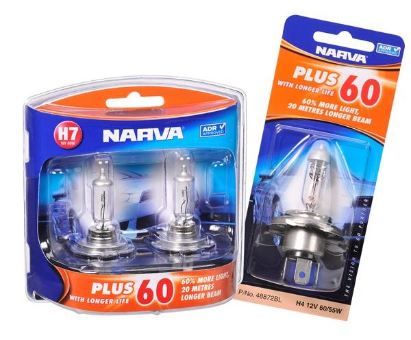 Narva Plus 60 H7 Globes