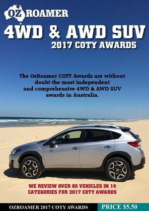 2017 OzRoamer 4WD & AWD SUV COTY Awards Cover