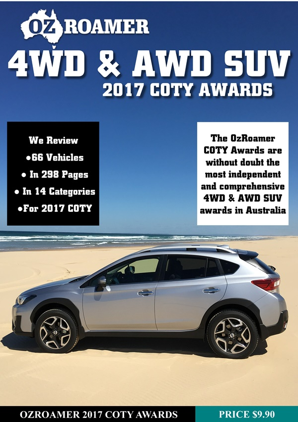 2017 OzRoamer 4WD and AWD SUV Awards Cover