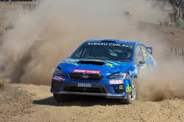 Subaru do Motorsport team of Molly Taylor and co-driver Malcom Read in action during 2018 Eureka Rally.