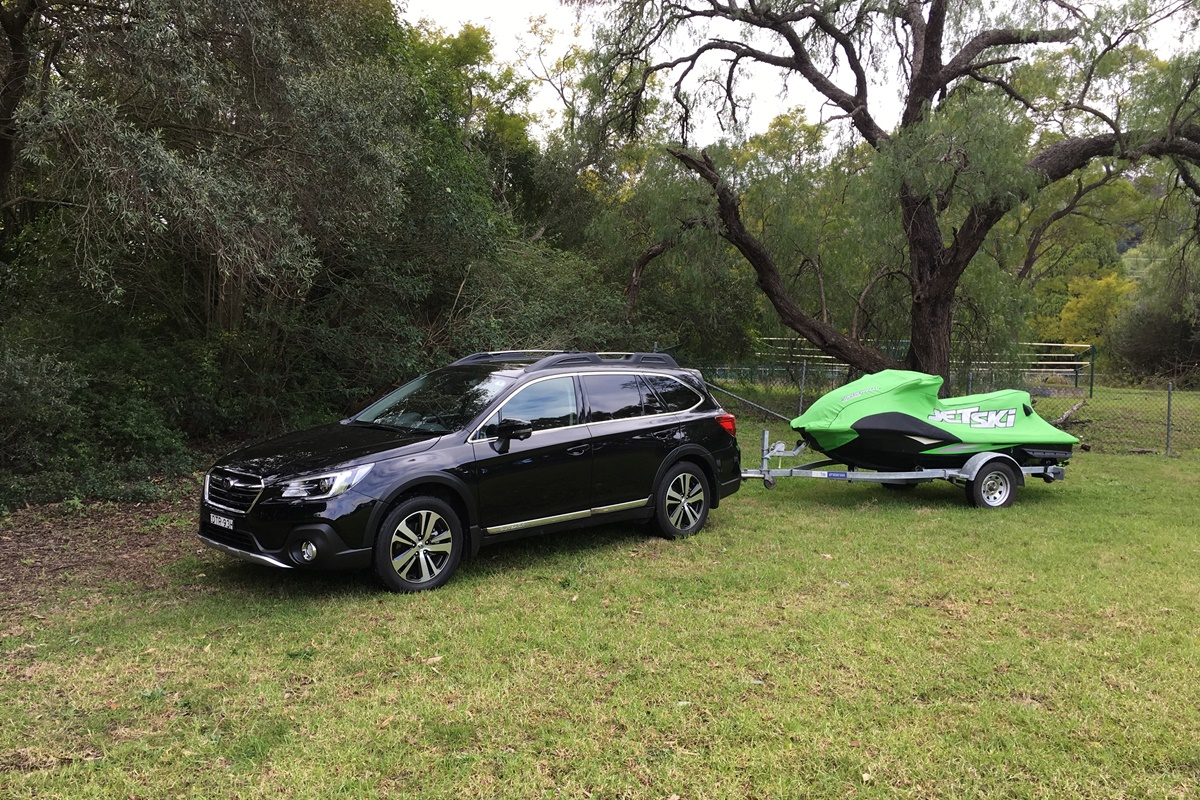 Subaru Outback towing