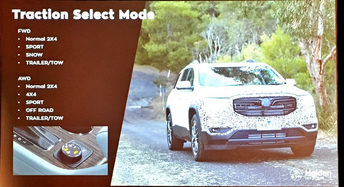 2019 Holden Acadia LTZ drive select slide