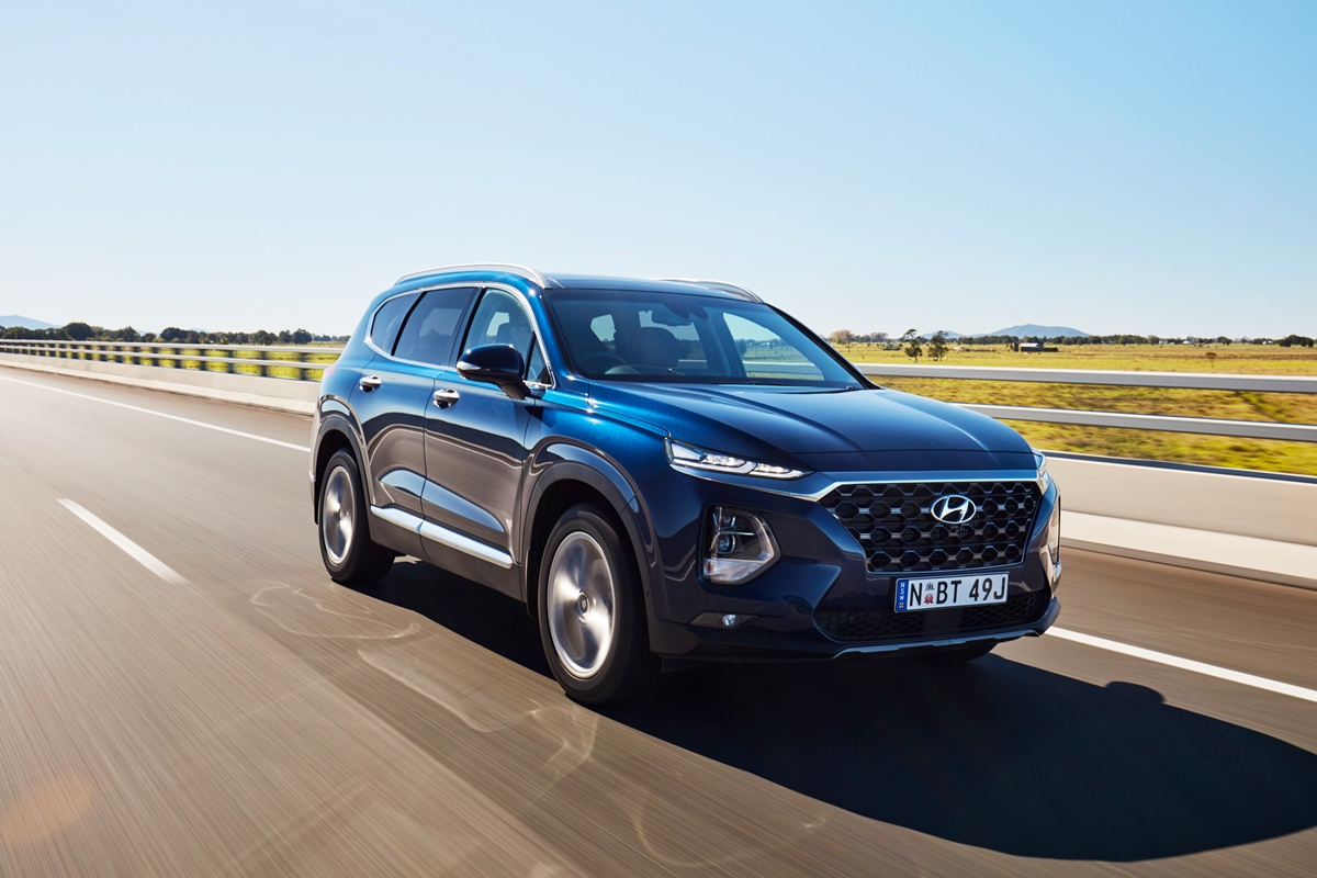 Hyundai Santa Fe driving