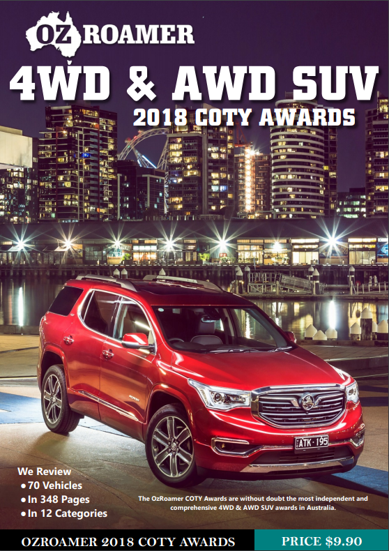 2018 OzRoamer 4WD and AWD SUV Awards Cover