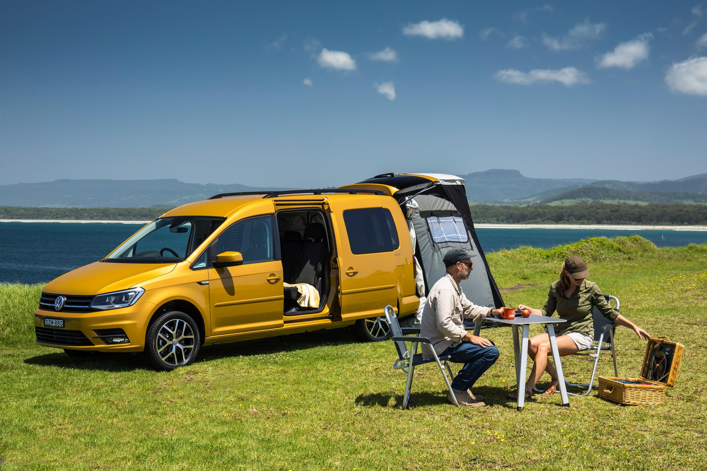 2019 Volkswagen Caddy Beach campervan.