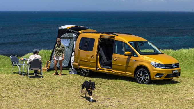 2019 Volkswagen Caddy Beach campervan.
