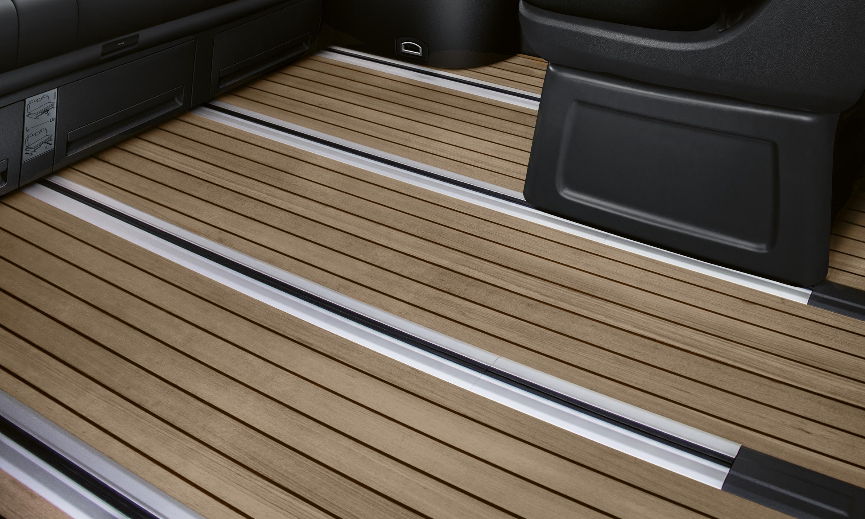 2019 VW Multivan floor detail.