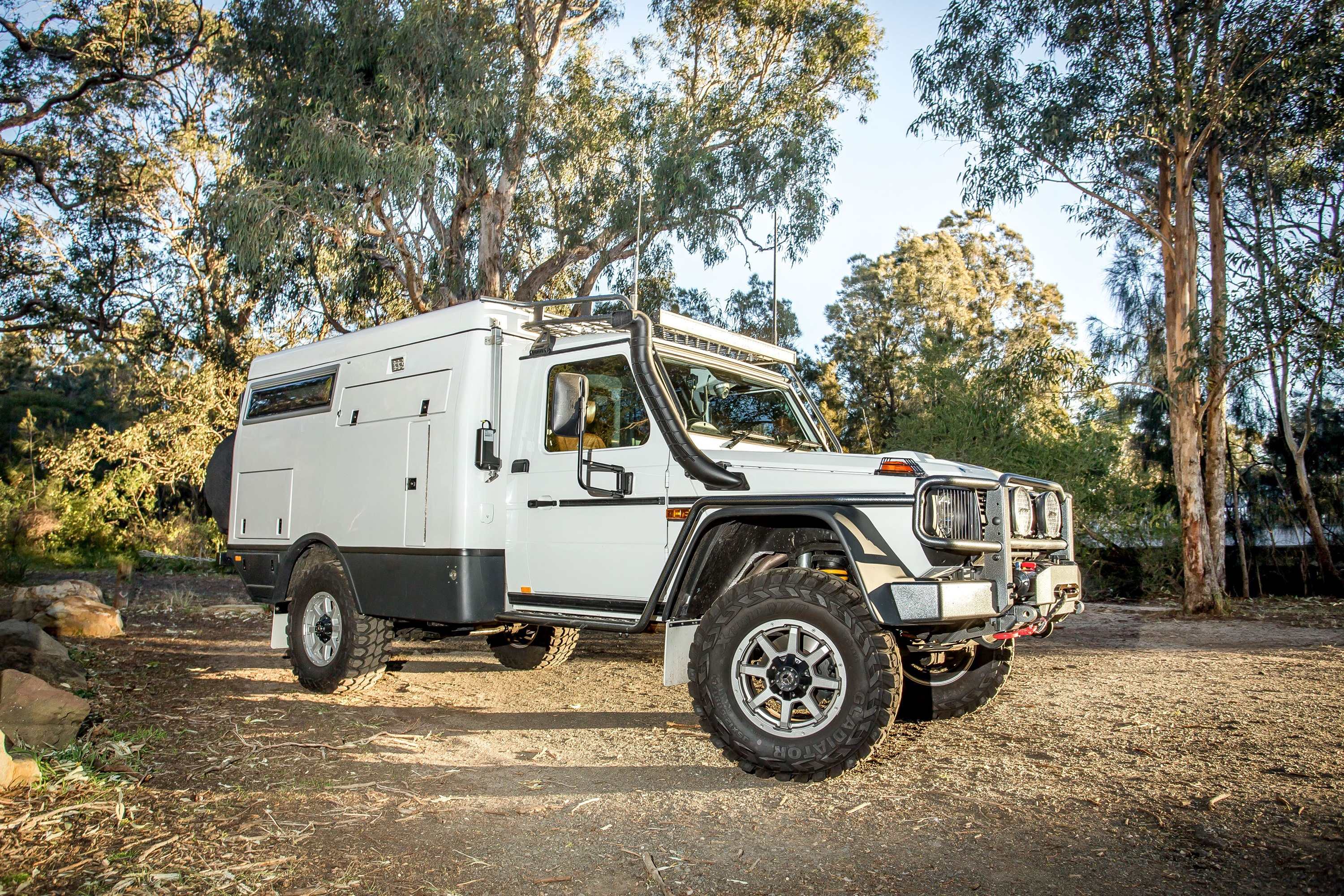 "The Earthcruiser Mercedes-Benz G-Pro Escape is for adventurers that want to travel ""off the radar"" as they explore without the constraints of normal all-terrain vehicles."