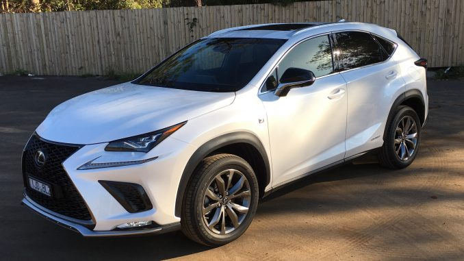 2018 COTY Lexus NX 300 H AWD F Sport front qtr