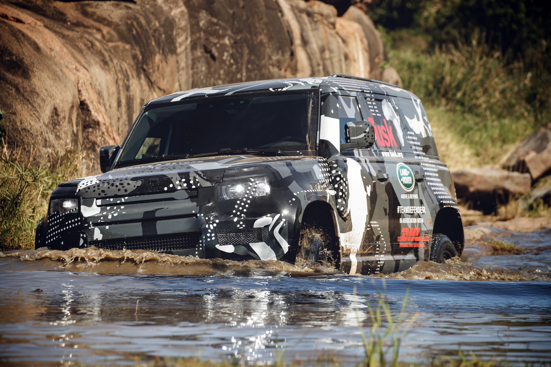 2019 Land Rover Defender Tusk testing Kenya 1