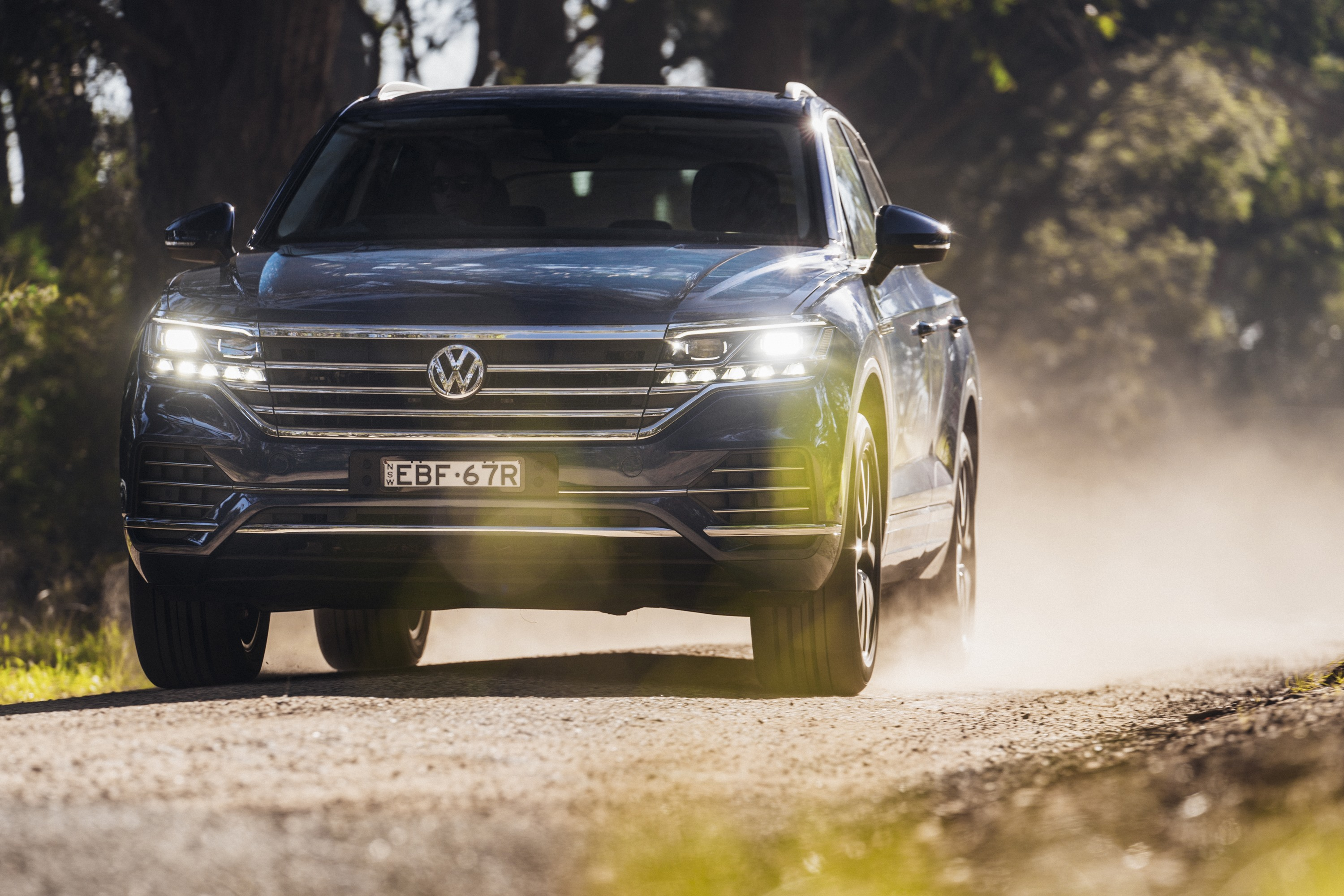 2019 VW Touareg Launch Edition 16 driving