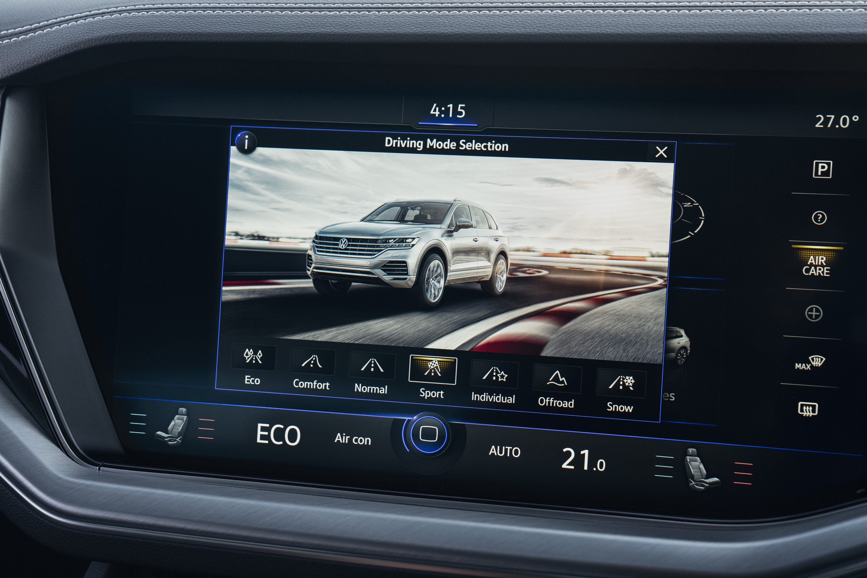 2019 VW Touareg Launch Edition 8 drive modes
