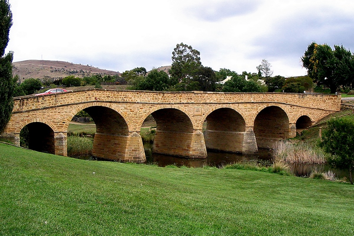 Richmond Bridge in Tasmania on VW Launch