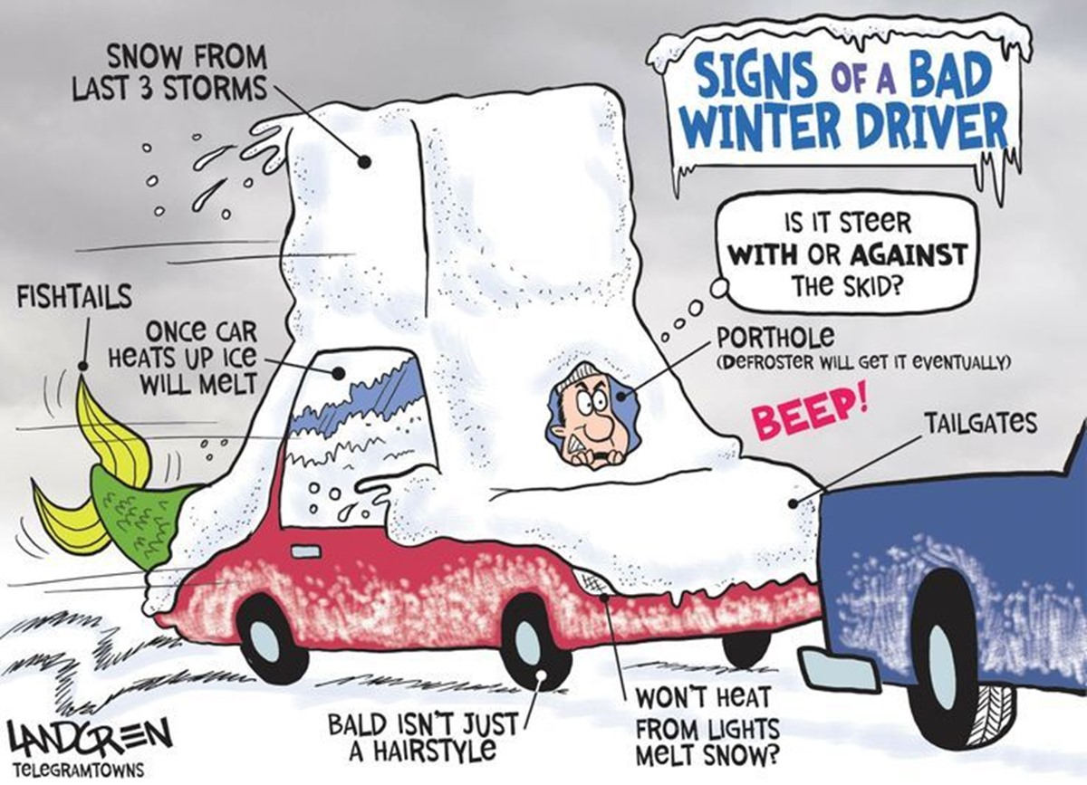Snow driving tips bad driver
